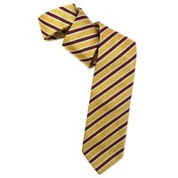 Gold, Red , and Cream Silk Faille Repp Tie by Robert ...