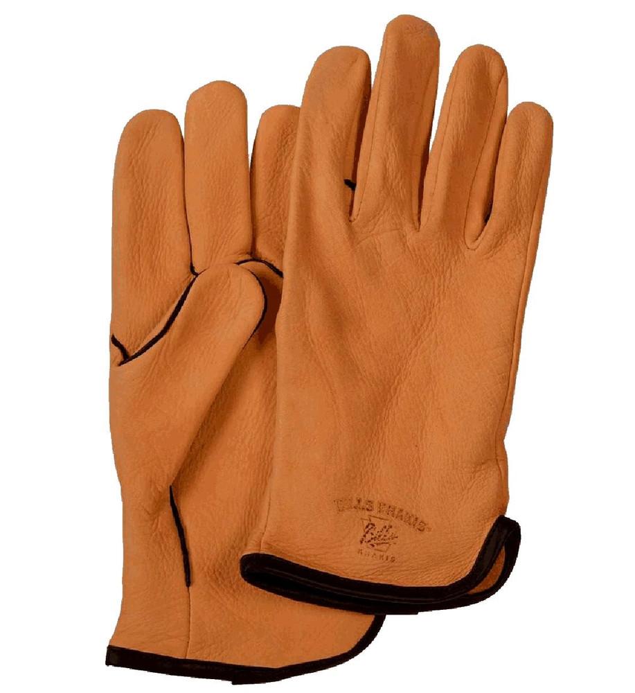 Deerskin Leather Fleece Lined Driving Gloves In Saddle
