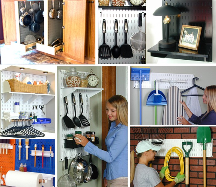 Pegboard Organizers  Gallery of Home Pegboard Storage and Organization Ideas Wall Control