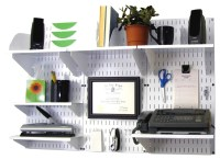 Slotted Pegboard Office Organizer   White Office Wall ...