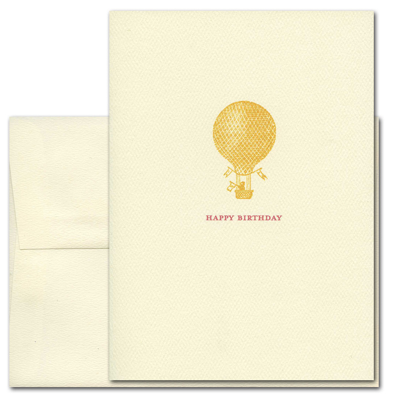 Boxed Business Birthday Cards Golden Balloon