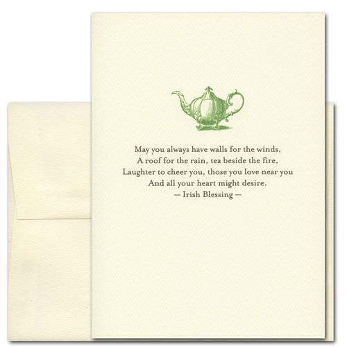 Boxed Irish Blessing Quotation Tea Beside The Fire