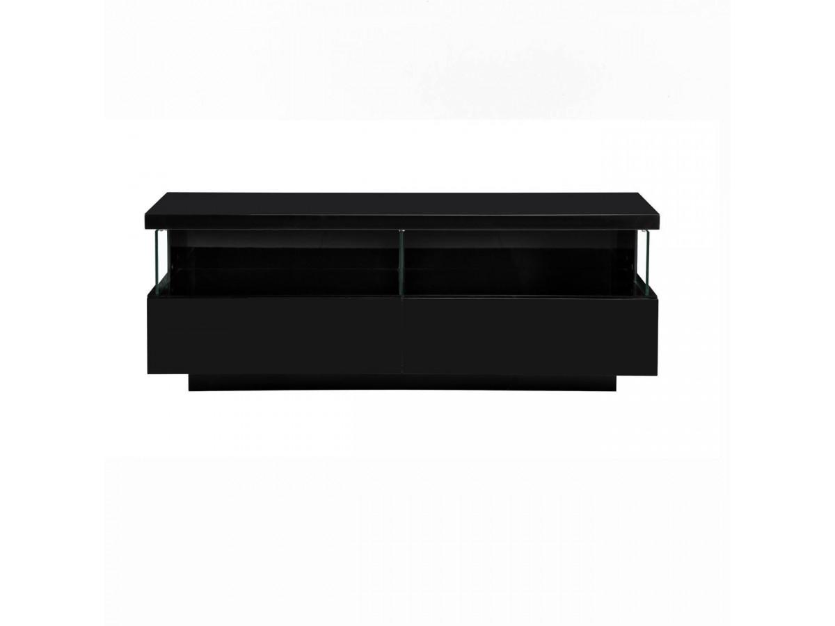 meuble tv 140 cm volcano noir laque
