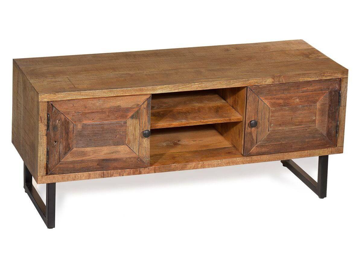 meuble tele 130 cm pourquet bois massif