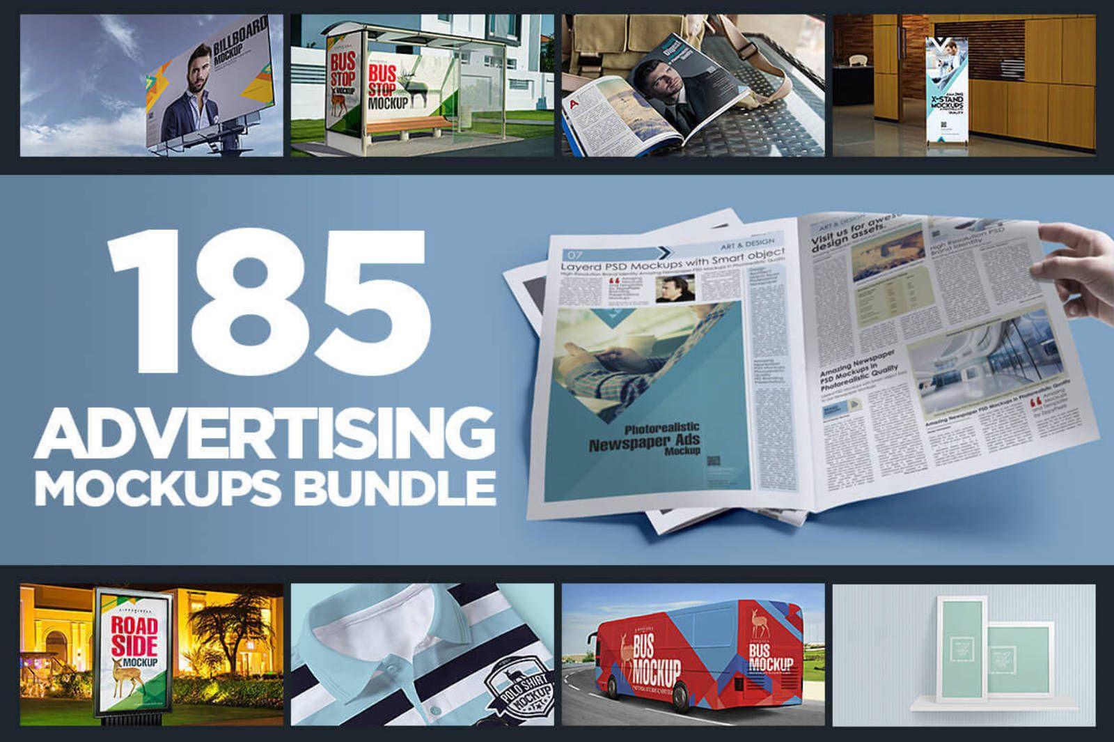 premium advertising mockup bundle