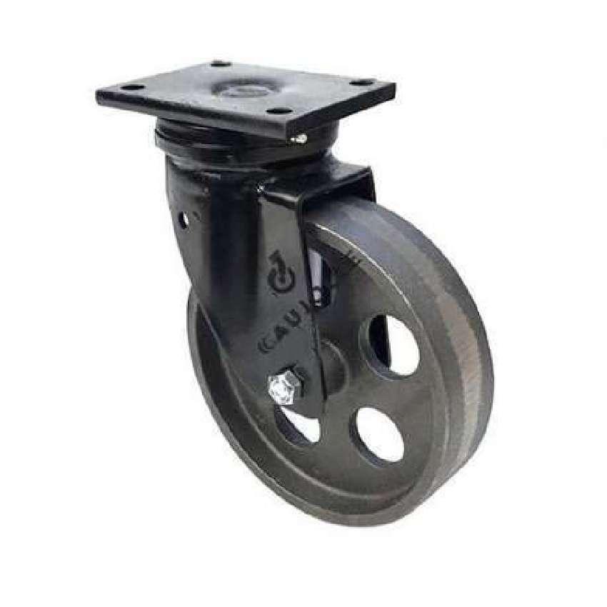 roulette vintage en fonte pivotante diametre 200mm charge 600kg industyl200p