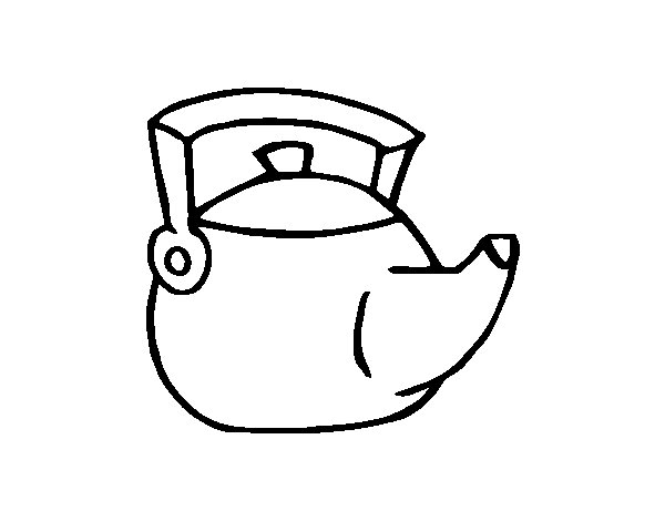 Tea Kettle Coloring Pages