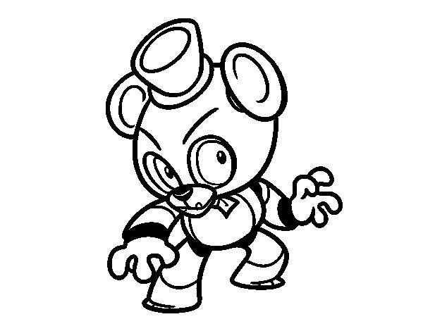 Desenho de Toy Freddy de Five Nights at Freddy's para