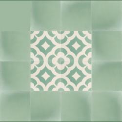Carreaux De Ciment Vert D Eau 16 Pcs