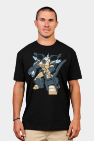 Grimzilla Shirts. Two of the biggest brutes of all time imagined as one. Grimlock and Godzilla collide in this mashup of destructive robotic awesomesauce. This is a Transformer that's LONG overdue.