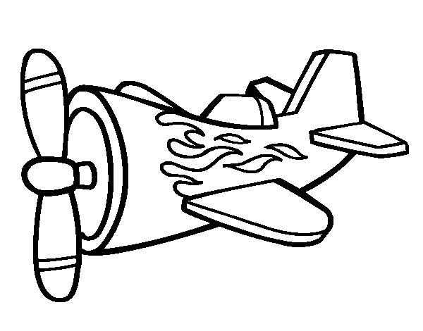 Dibujos Para Colorear Avion Con Misiles