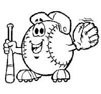 Dibujo de Bola de bisbol para Colorear