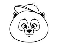 Dibujo de Cara de oso panda con gorro para Colorear ...
