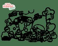 Dibujos Para Colorear Kawaii Dificiles 99 Dibujos De