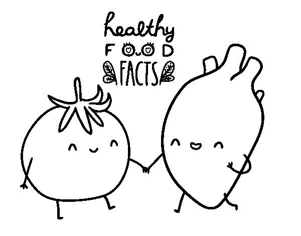 imagenes de comida saludable para colorear dibujo de