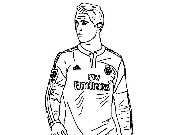 Dibujo De Cristiano Ronaldo Para Colorear Dibujos Para
