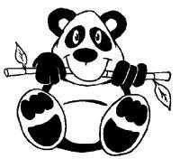Cara de osos panda para colorear - Imagui