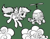 Dibujo de Rainbow Dash y la tortuga tanque para Colorear ...