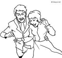 Dibujo de Recin casados para Colorear - Dibujos.net