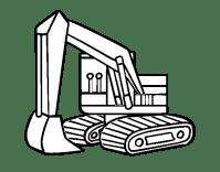 Dibujo de Una excavadora para Colorear - Dibujos.net