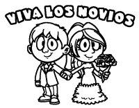Dibujo de Viva los novios para Colorear - Dibujos.net