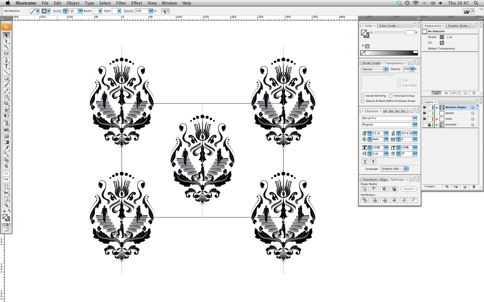 Adobe Illustrator & Photoshop tutorial: Design repeating