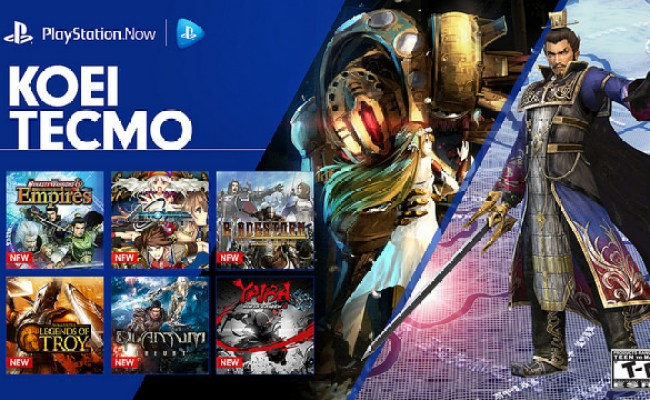 12 New Koei Tecmo Games Added To Playstation Now