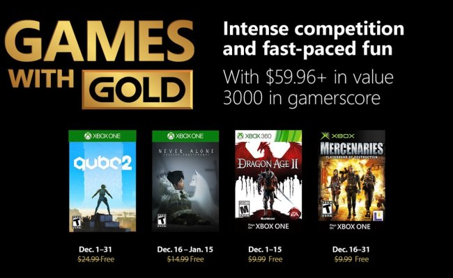 Dragon Age Ii And Qube 2 Highlight December S Games With