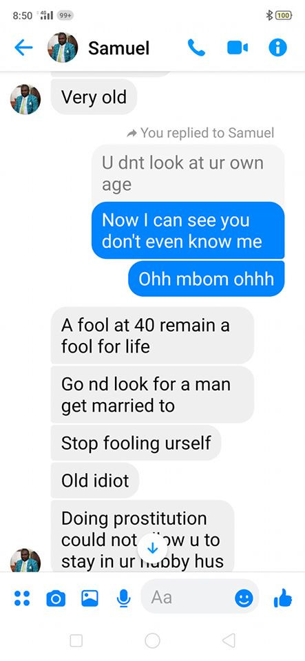 Nigerian widow calls out married man allegedly trying to hookup with her, shares chats