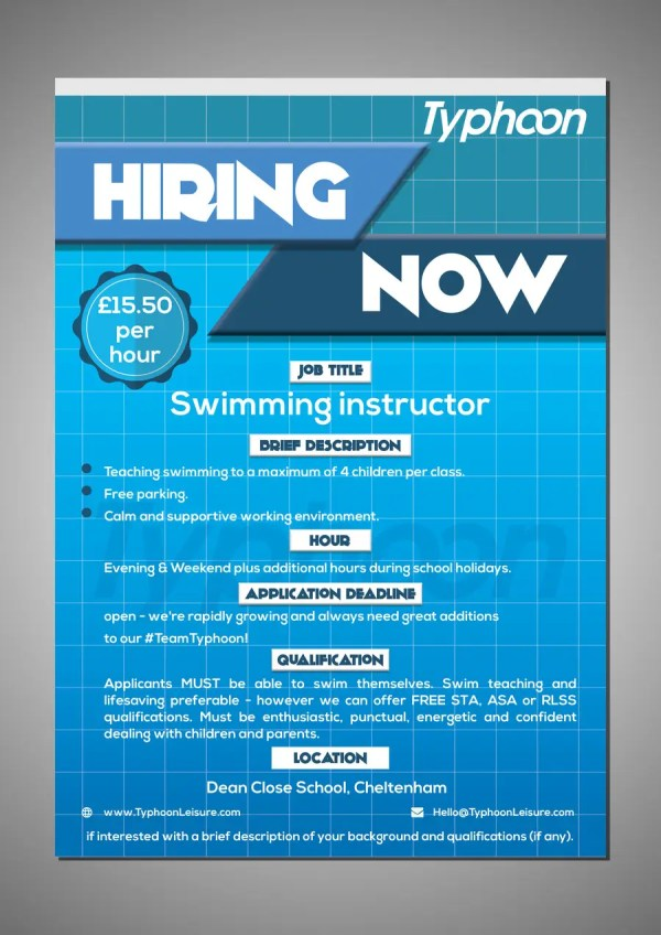 Entry 110 by brandspixel for Design a Job Advert Poster