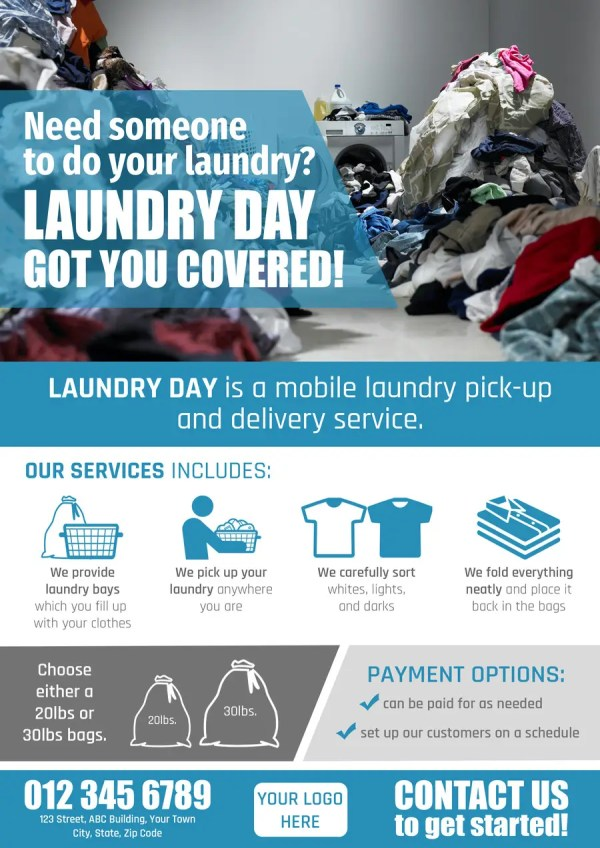 Create Flyer Mobile Laundry Pick And Delivery Service Freelancer