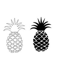 Entry #9 by muazzamamemon16 for pineapple outline drawing Freelancer