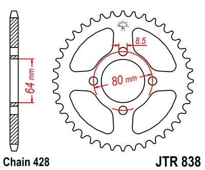 RS100 1976-80 Chain & Sprocket Kit