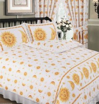 Changingbedrooms.com King Size White Gold Happy Sun And ...