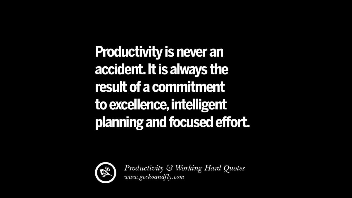 30 Uplifting Quotes On Increasing Productivity And Working ...