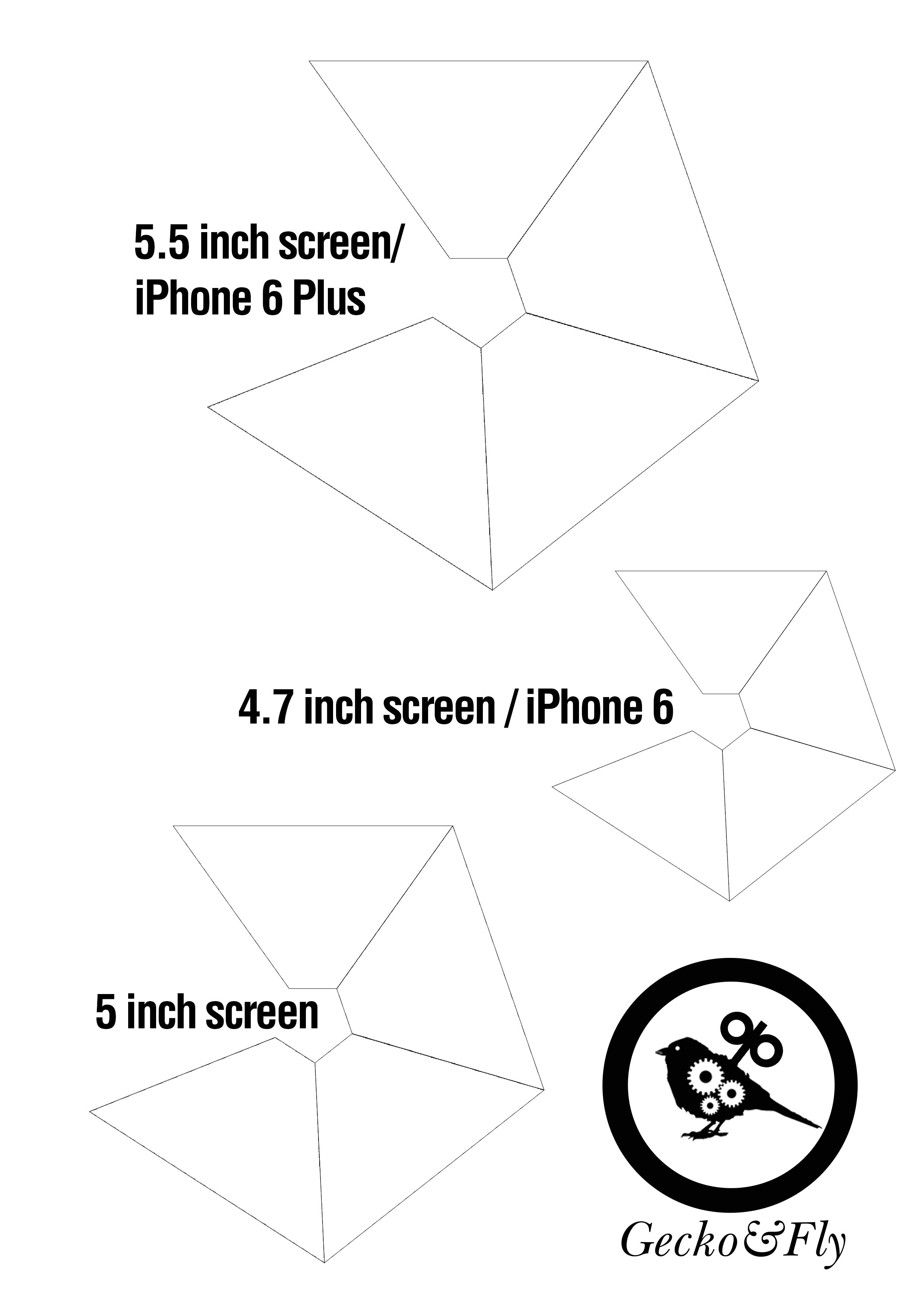 Download DIY 3D Hologram Template for Smartphone Created By GeckoandFly