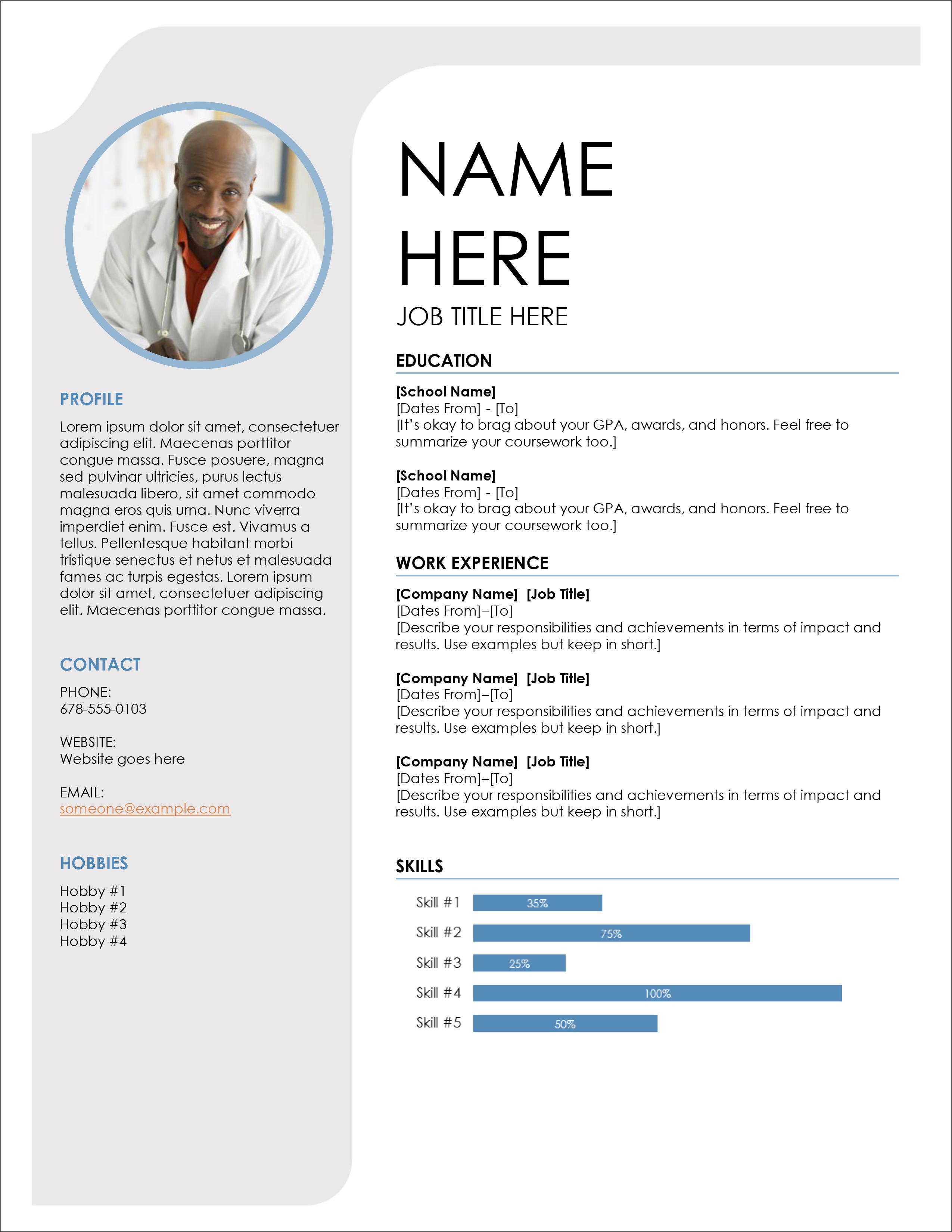 office resume templates free download