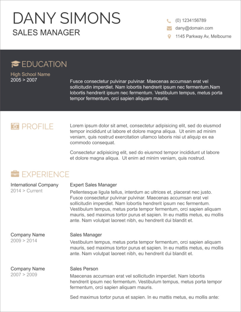 Microsoft Word Templates For Resumes 45 Free Modern Resume Cv Templates Minimalist Simple Clean