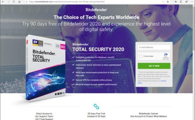 Download 90 Days Free Bitdefender Internet Total