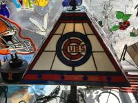 Chicago Cubs Art Glass Lamp | Glass House Store
