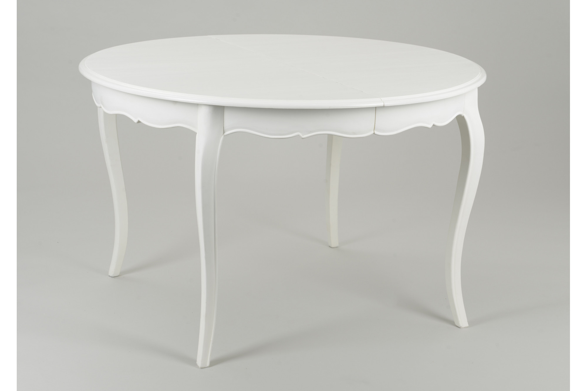 table bois massif extensible muriane ronde blanche hellin