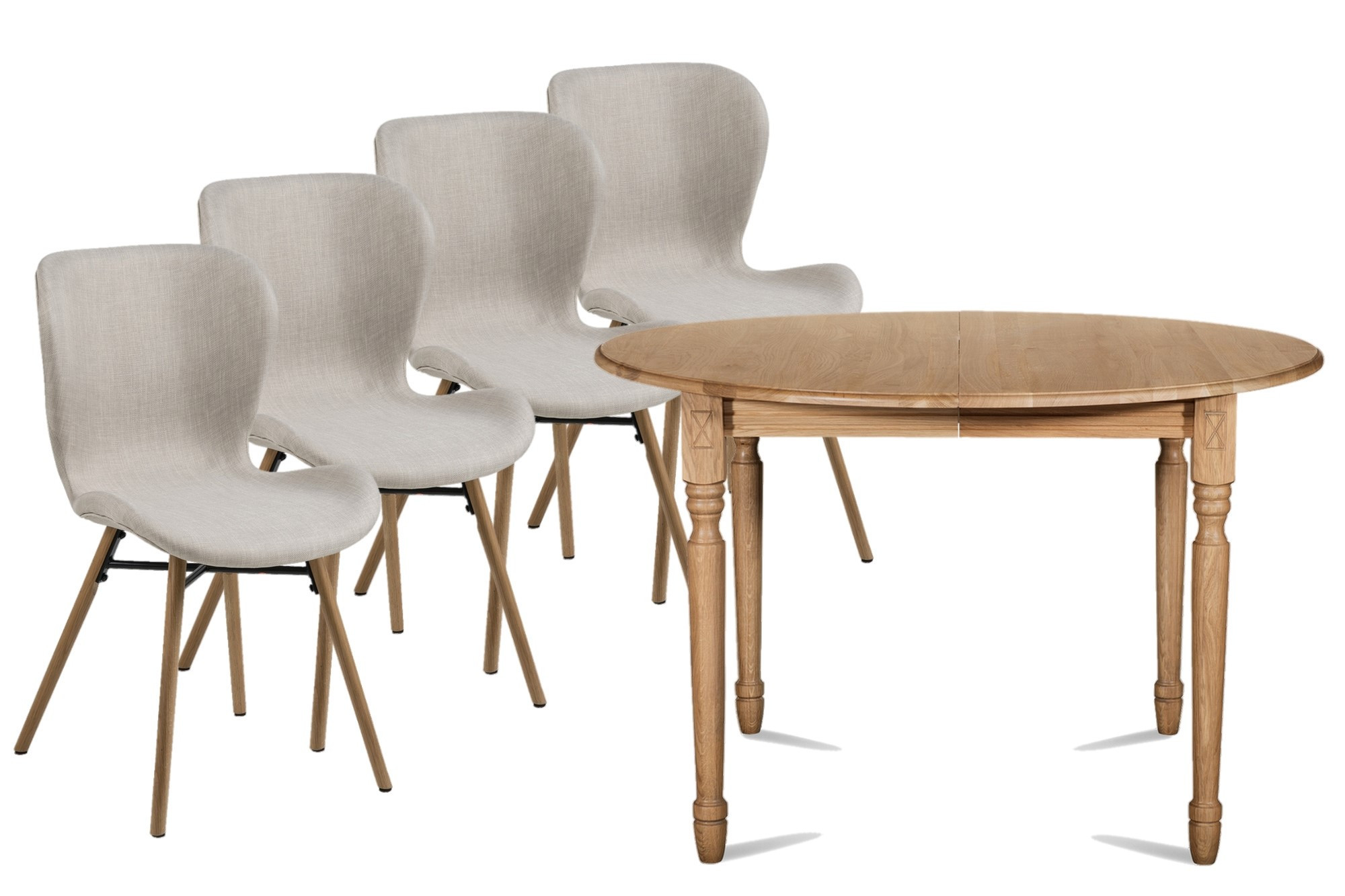 ensemble table ronde chaises matilda hellin