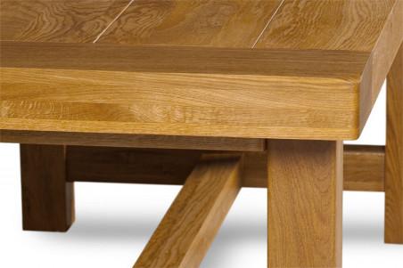 Table De Ferme En Chene Massif La Bresse 220 X 90 Hellin