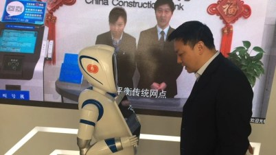 Bildergebnis für China Construction Bank opens a branch managed by robots