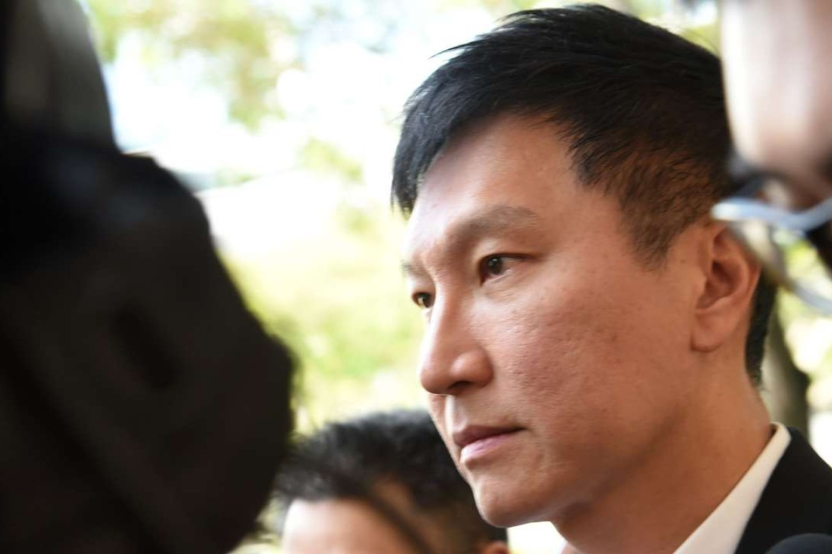 Kong Hee, the lead pastor of the City Harvest Church leaves the Supreme court in Singapore. Photo: AFP