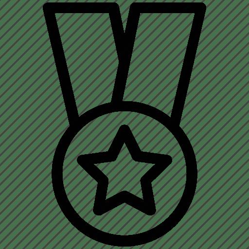 Award, badge, best, bronze, ceremony, favorite, star icon