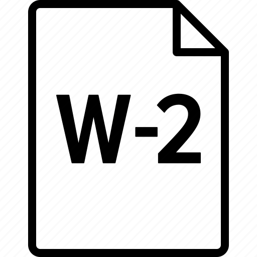 Document, form, irs, statement, tax, w2, wage icon