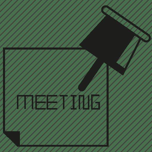 Meeting, memo, note, pin, reminder icon