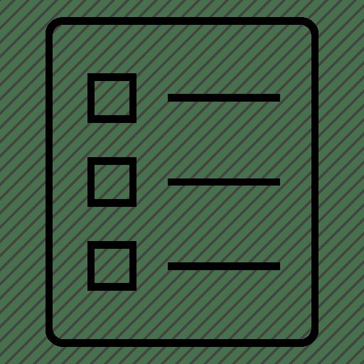 Check, checklist, document, list, mark, ok icon