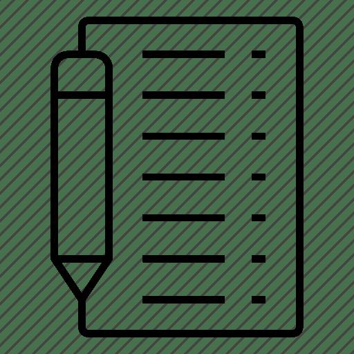 Checklist, document, edit, extension, file, format, paper icon